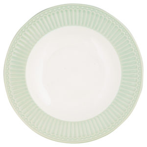 Stoneware Deep plate Alice pale green