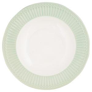 Stoneware Deep plate Alice pale green