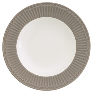 Stoneware Deep plate Alice warm grey