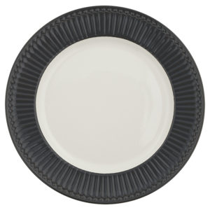 Stoneware Dinner plate Alice dark grey