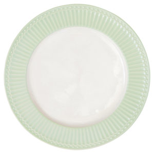 Stoneware Dinner plate Alice pale green
