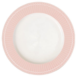 Stoneware Dinner plate Alice pale pink