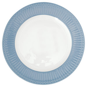 Stoneware Dinner plate Alice sky blue