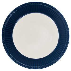 Stoneware Plate Alice dark blue
