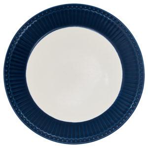 Stoneware Plate Alice dark blue