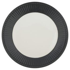 Stoneware Plate Alice dark grey