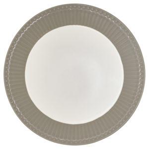 Stoneware Plate Alice warm grey