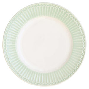 Stoneware Plate small Alice pale green