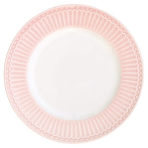 Stoneware Plate small Alice pale pink