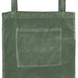 Tasche m/Innentasche Velour dusty chalk green