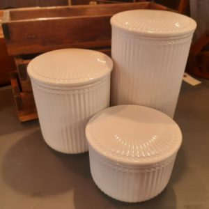 Stoneware Storage jar Alice white large