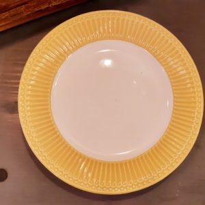 Stoneware Dinner plate Alice honey mustard