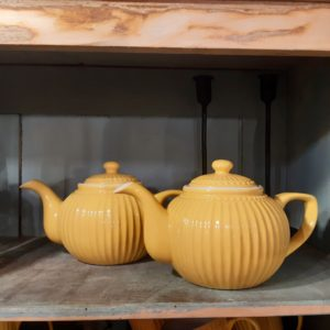Stoneware Teapot Alice honey mustard