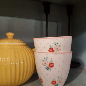 Stoneware Latte cup Eja white