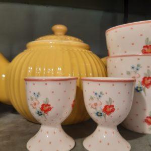 Stoneware Egg cup Eja white