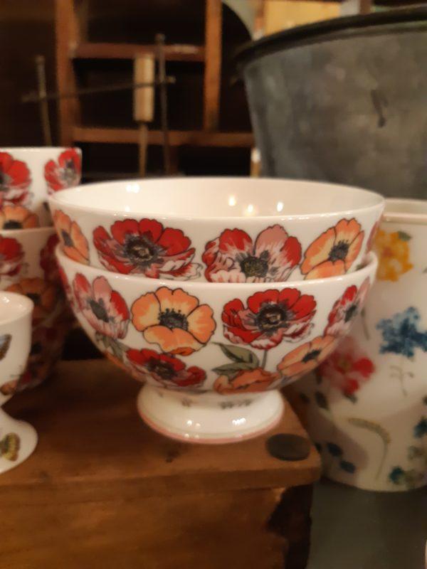 Stoneware Soup bowl Aria white