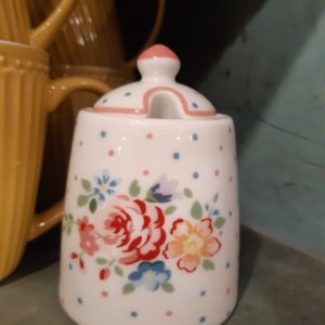 Stoneware Sugar pot Belle white