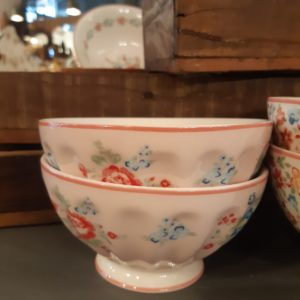 Stoneware French bowl xlarge Roberta pale pink