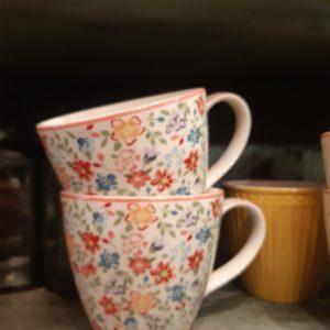 Stoneware Mug Clementine white