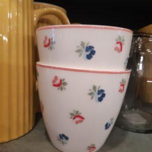 Stoneware Latte cup Viola white