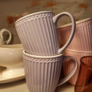 Stoneware Mug Alice lavender