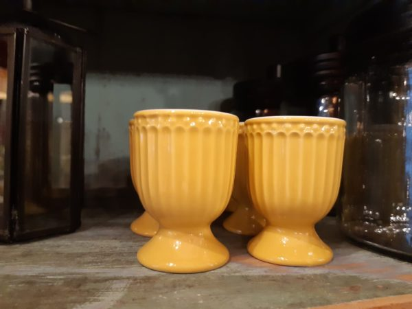 Stoneware Egg cup Alice honey mustard