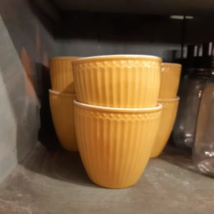 Stoneware Latte cup Alice honey mustard