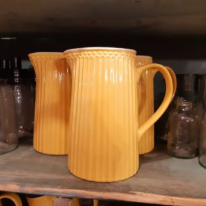 Stoneware Jug Alice honey mustard 1L