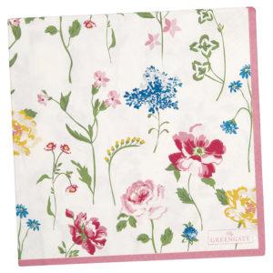 Paper Napkin Thilde white large 20pcs