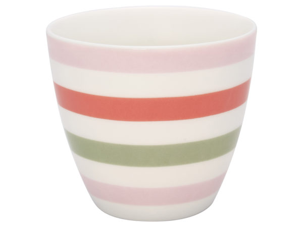Stoneware Latte cup Valentina white
