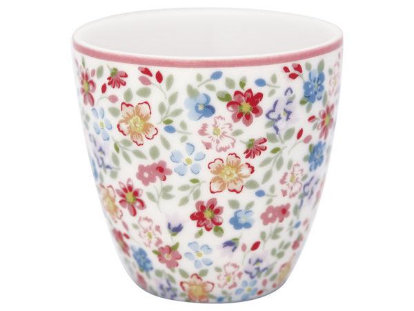 Stoneware Mini latte cup Clementine white