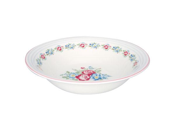 Stoneware Salad bowl Henrietta white