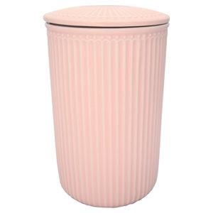 Stoneware Storage jar Alice pale pink large