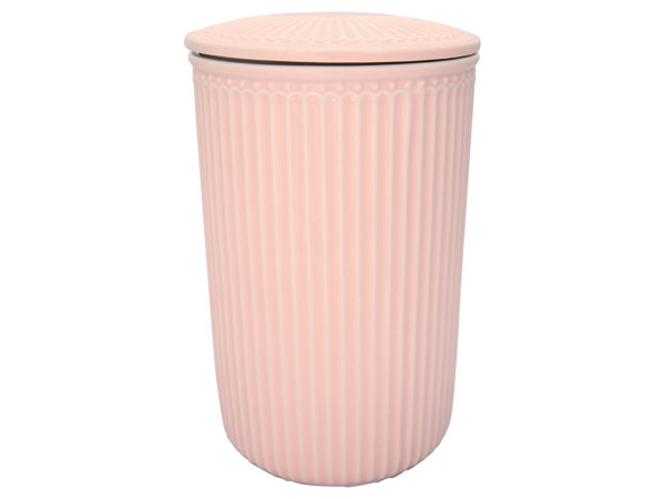 Stoneware Storage jar Alice pale pink large