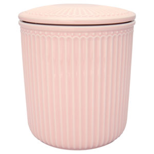 Stoneware Storage jar Alice pale pink medium