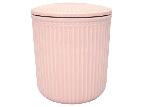 Stoneware Storage jar Alice pale pink medium