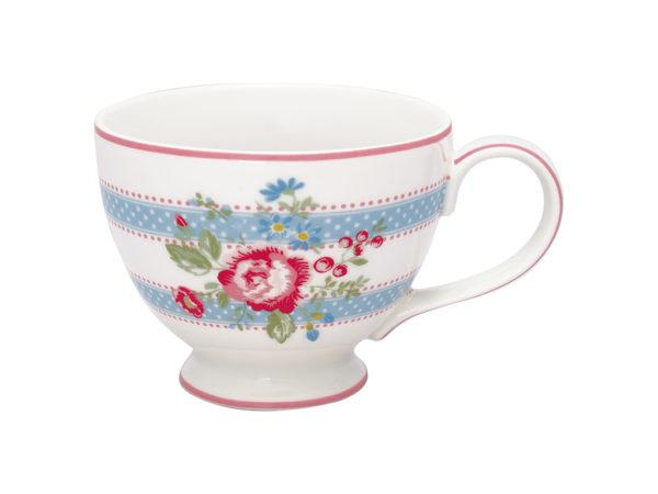 Stoneware Teacup Evie white