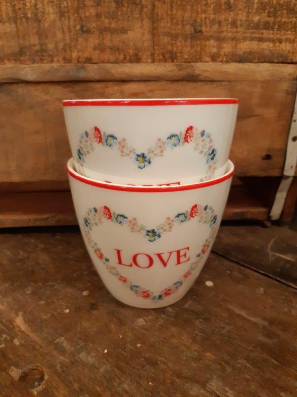 Latte cup Heart love