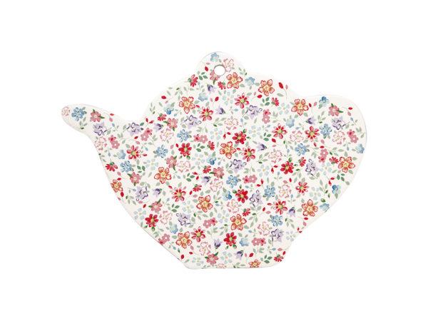 Ceramic Coaster teapot Clementine white