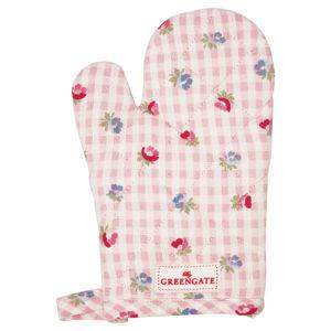 Greengate Ofenhandschuh für Kinder - Viola check pale pink