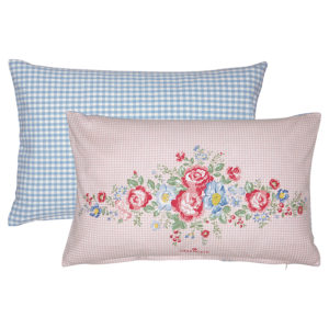 Cotton Cushion Henrietta pale pink pieceprinted 30x50cm