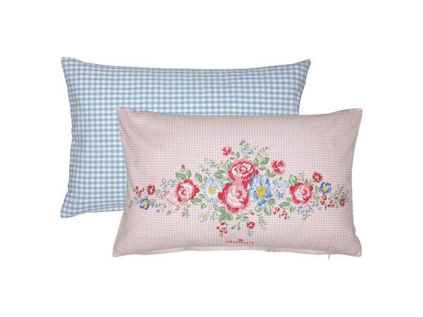 Cotton Cushion Henrietta pale pink pieceprinted 30x50cm