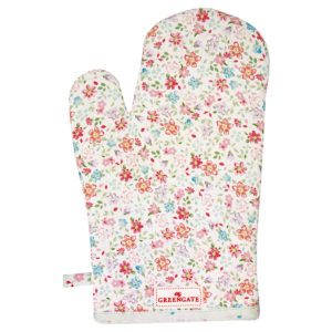 Cotton Grill glove Clementine white