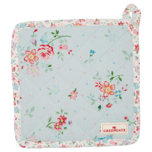 Cotton Pot holder Belle pale blue set of 2pcs