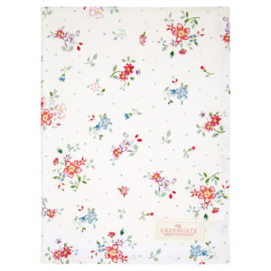 Cotton Tea towel Belle white