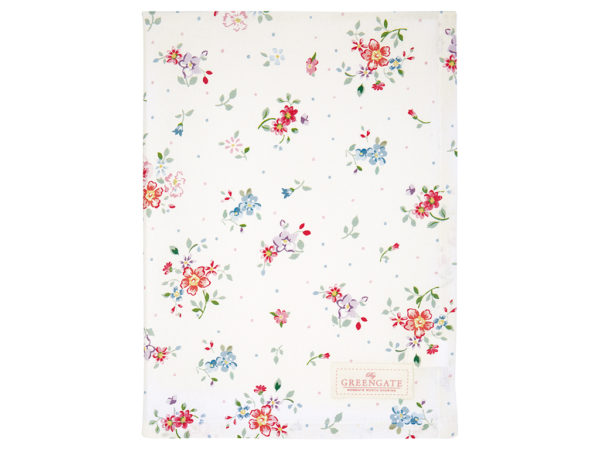 Cotton Tea towel Belle white