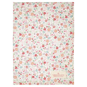 Cotton Tea towel Clementine white
