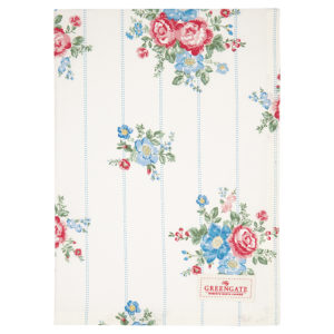Cotton Tea towel Henrietta white