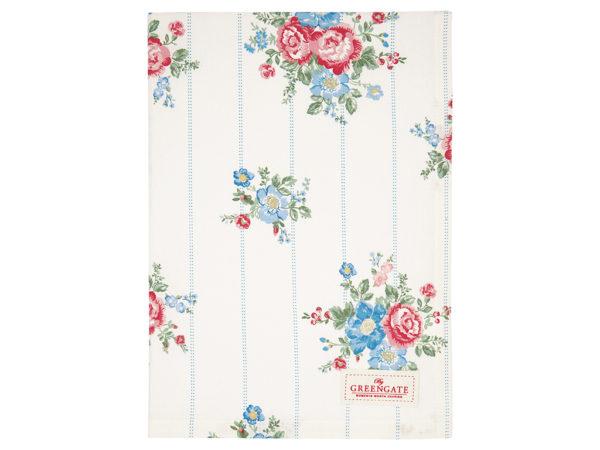 Cotton Tea towel Henrietta white