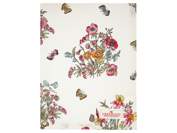 Cotton Tea towel Myra white